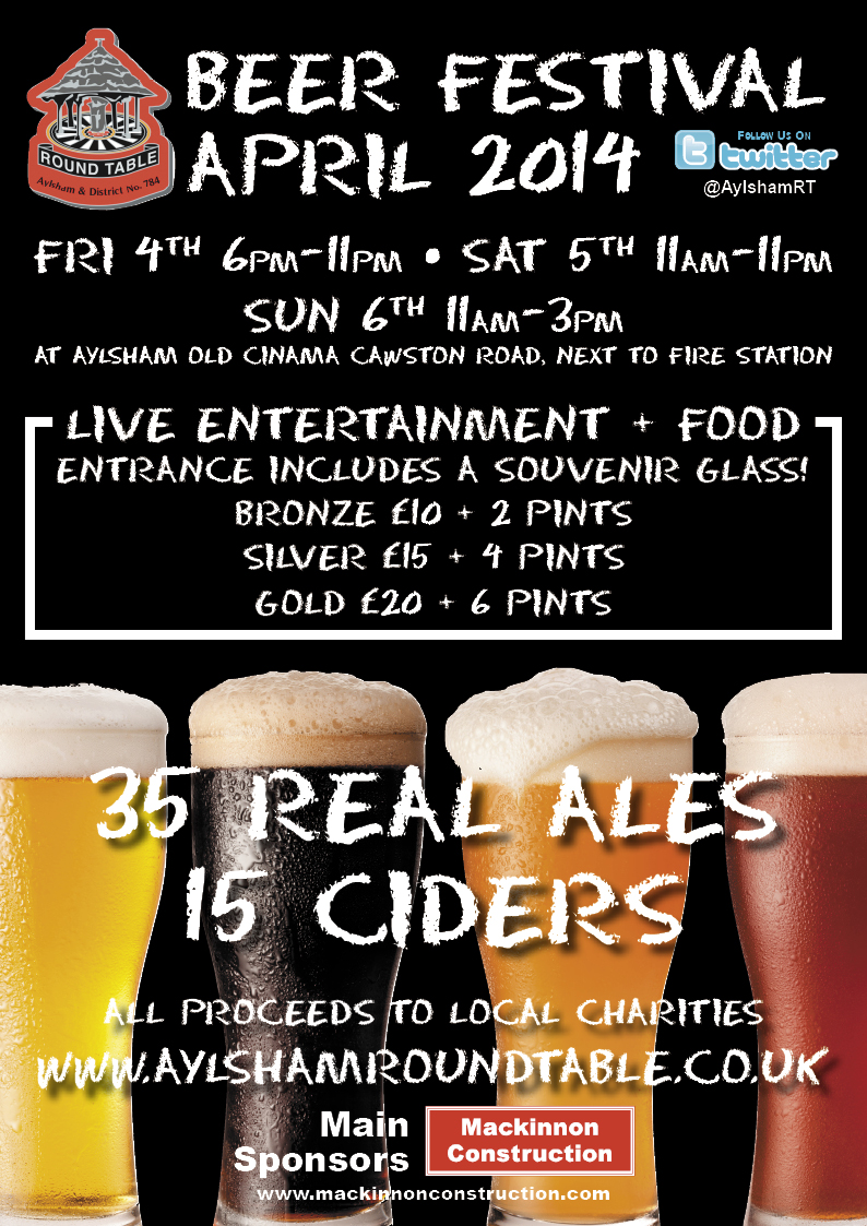 Aylshamroundtable beer fest 2014 poster FINAL
