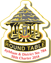 Aylsham Round Table 50th Charter Badge