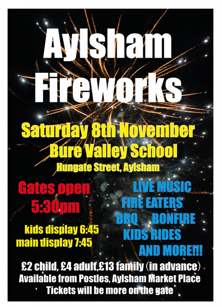 Aylsham Round Table Fireworks 2014