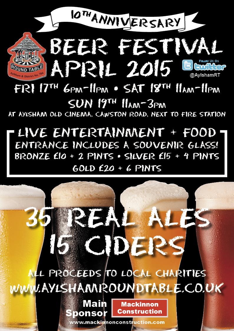 Aylshamroundtable beer fest 2015 poster