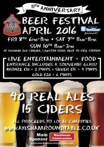 Aylshamroundtable beer fest 2016 poster (1)